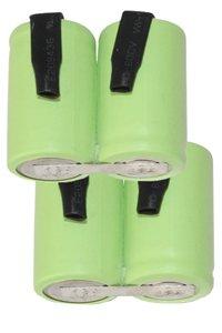 2x A23 Batterien in Serien, mit Anschlussstellen (1100 mAh, Wiederaufladbar)