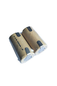 2x Sub-C battery mit Anschlussstellen (3000 mAh, Wiederaufladbar)