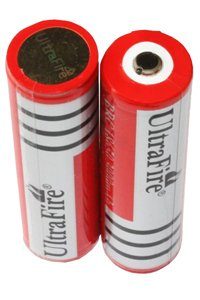 UltraFire 2x 18650 battery (3000 mAh, Wiederaufladbar)